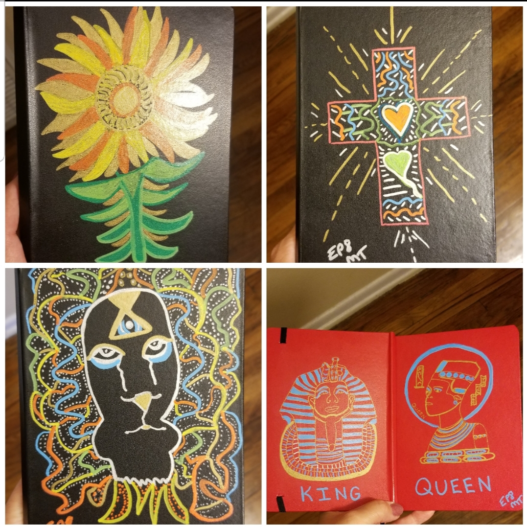 journal collage King Queen
